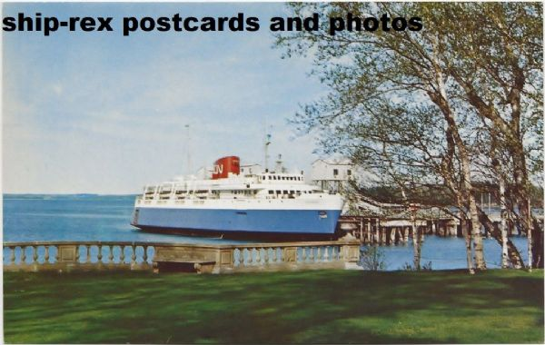 BLUENOSE (1956b, Canadian National) postcard (b)